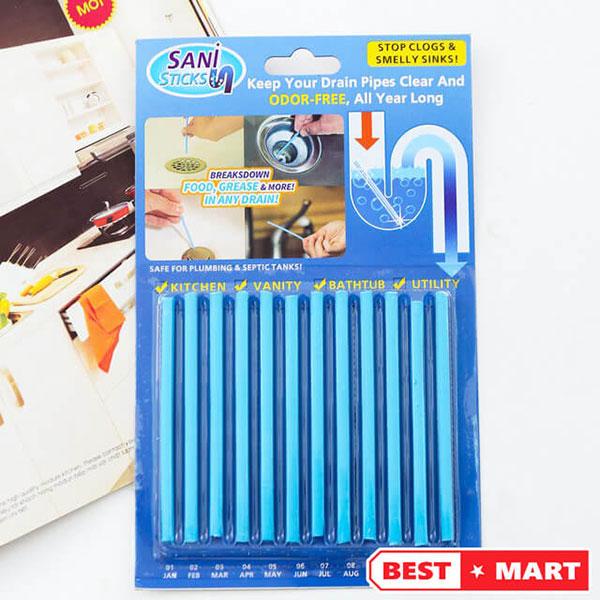 Cách dùng que thông cống Sani Sticks