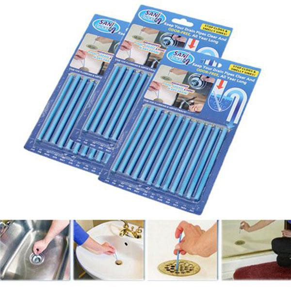Hướng dẫn cách dùng que thông cống Sani Sticks