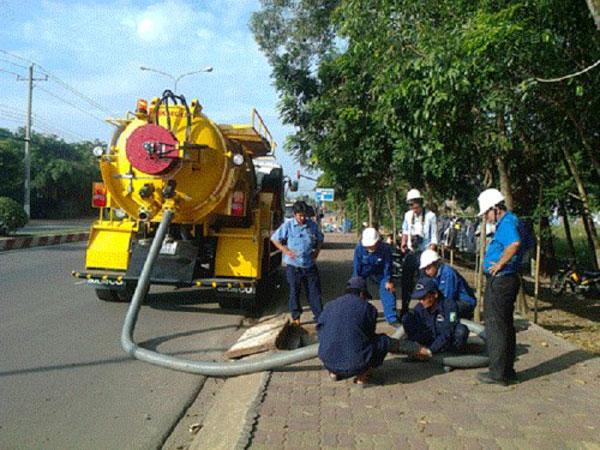 Dịch vụ hút bể phốt tại KCN Đình Vũ